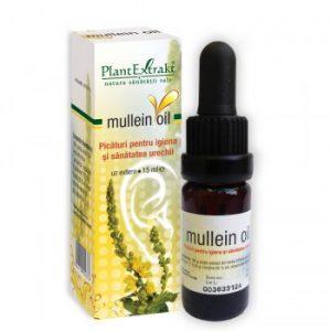 mullein oil pentru dureri de ureche otita plantextrakt earome